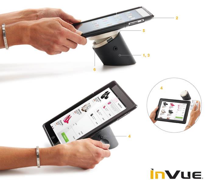 Противокражный стенд для защиты планшетных компьютеров (таблетов) inVue CT50